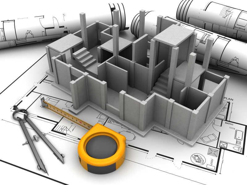 施工的大楼三维模型
