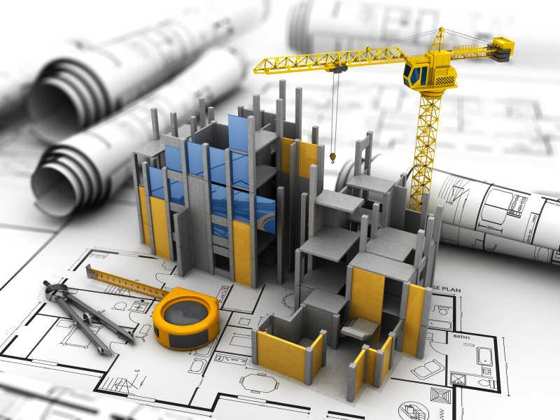 三维施工场地模型
