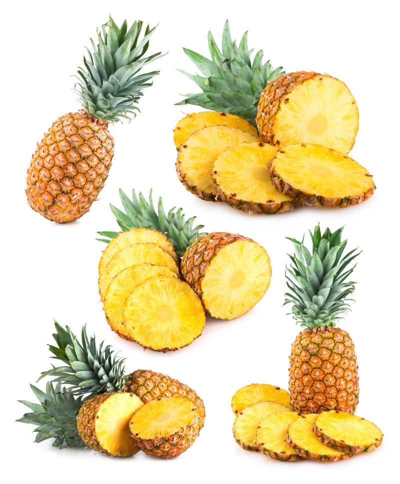 新鲜的切开的菠萝