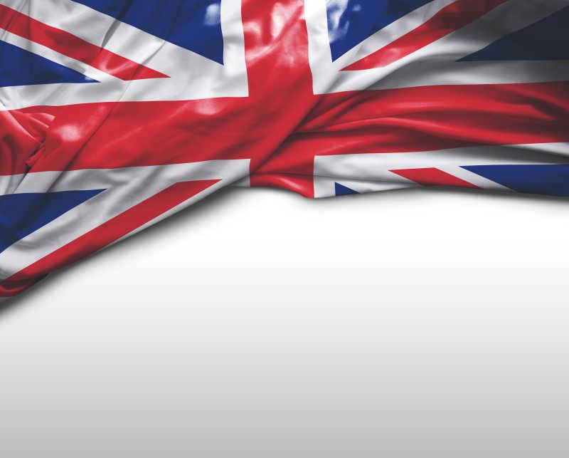 白色背景上英国国旗
