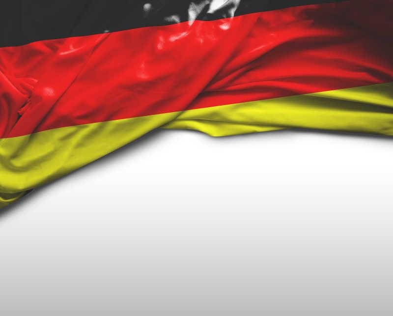 白色背景上德国国旗