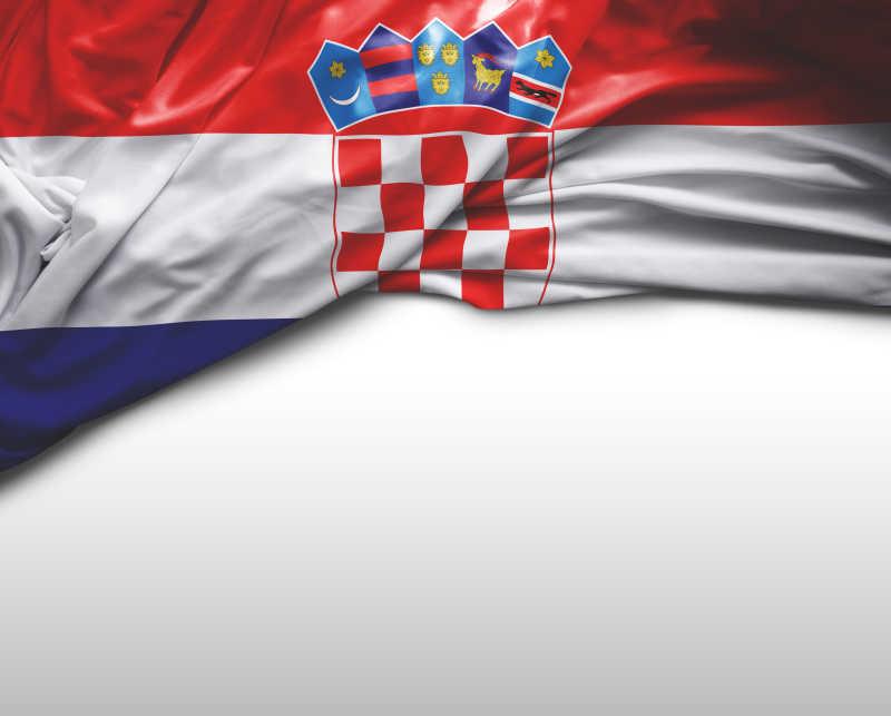 白色背景中克罗地亚国旗