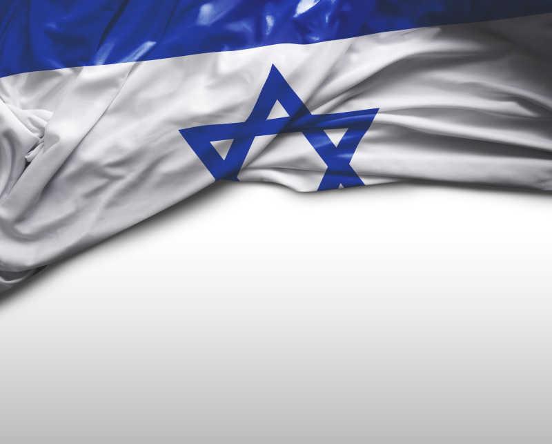 白色背景中以色列国旗