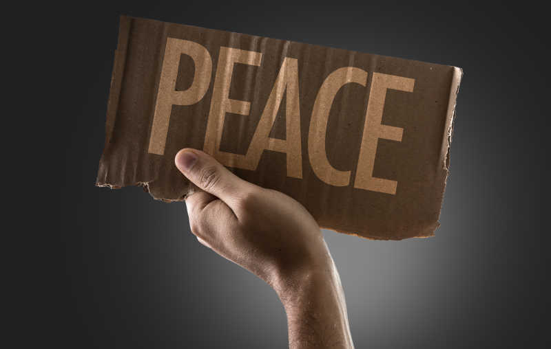 和平英文字母标语