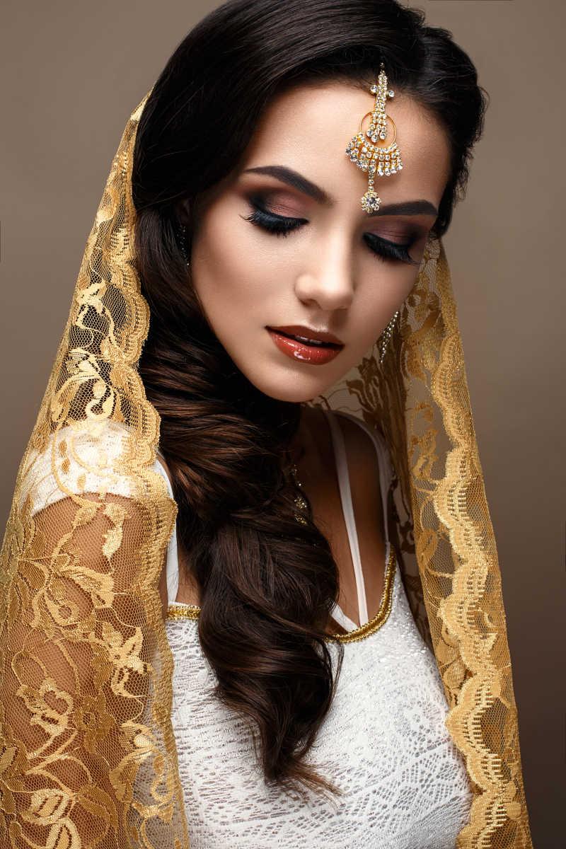美丽高贵的印度美女