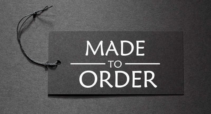 黑标签上的订单