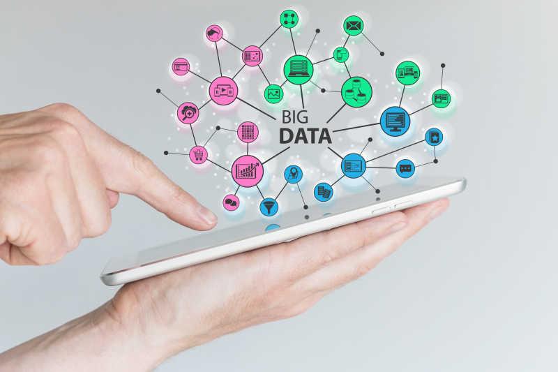 平板上的移动社交网络概念
