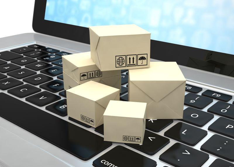 笔记本电脑和空运盒
