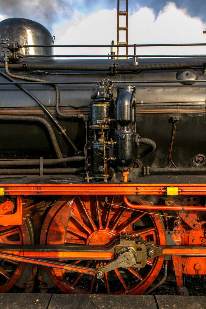 老式的火车结构