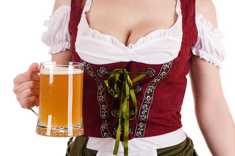 慕尼黑啤酒节的传统服装的女人