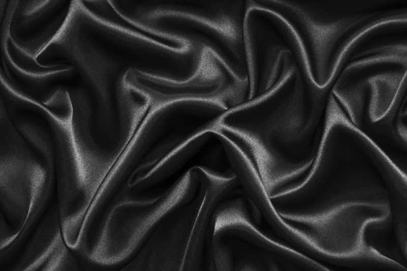 黑色丝绸波浪背景