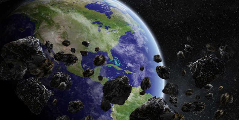 陨石即将撞击地球