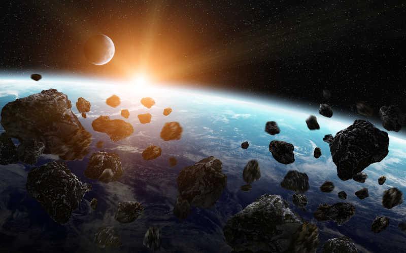 陨石击中了一颗行星