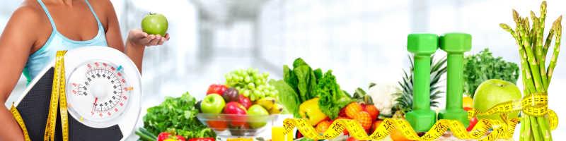 节食和运动背景