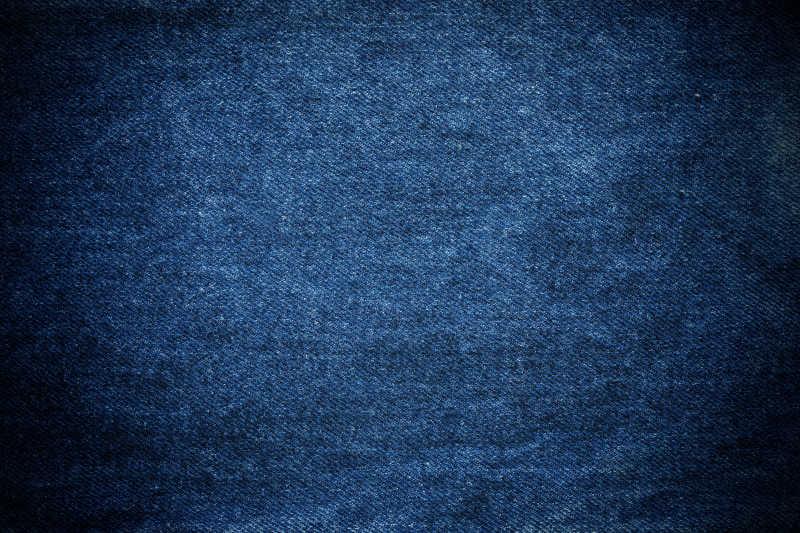深蓝色牛仔布背景