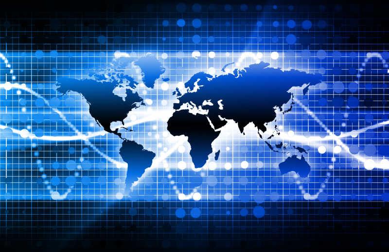 多媒体展现的世界地图光幕