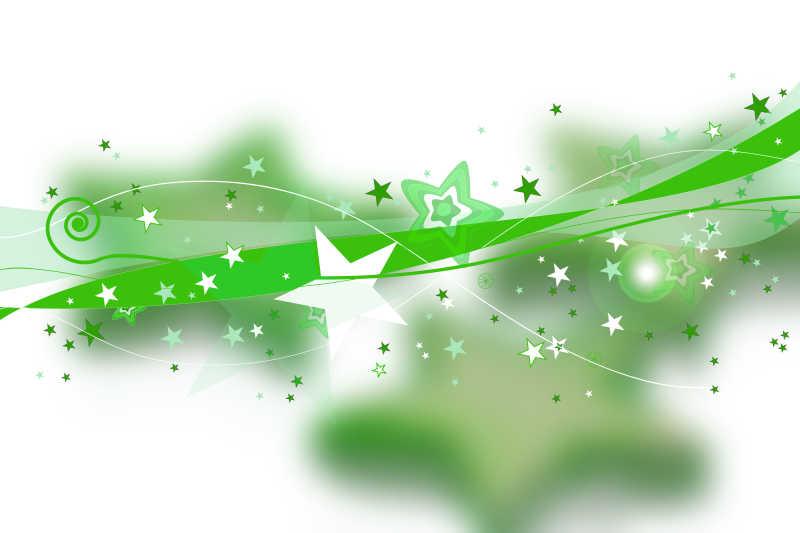 有绿色小小星图案的白色背景