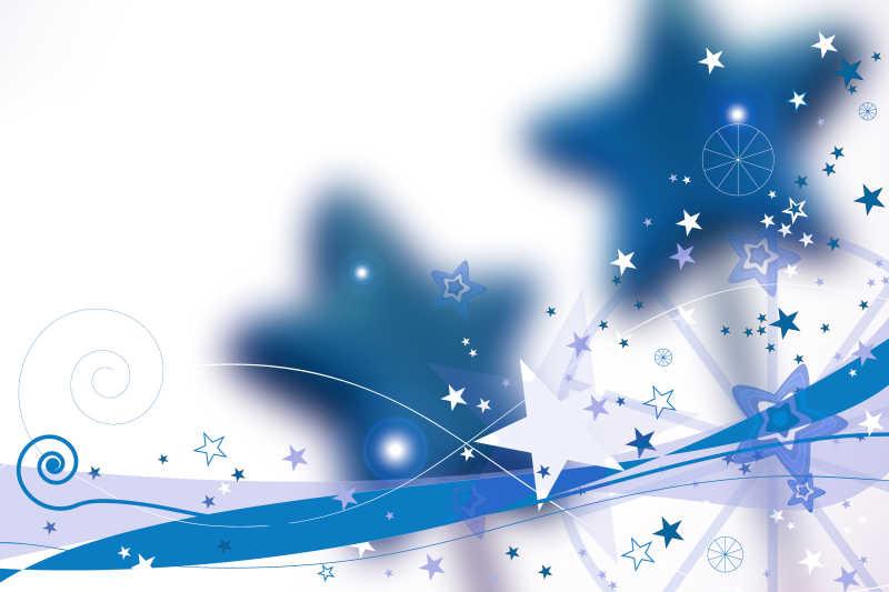 白色的小星星图案背景