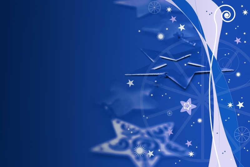 蓝色的小星星图案背景