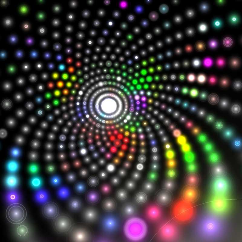 狂欢节螺旋灯光抽象背景