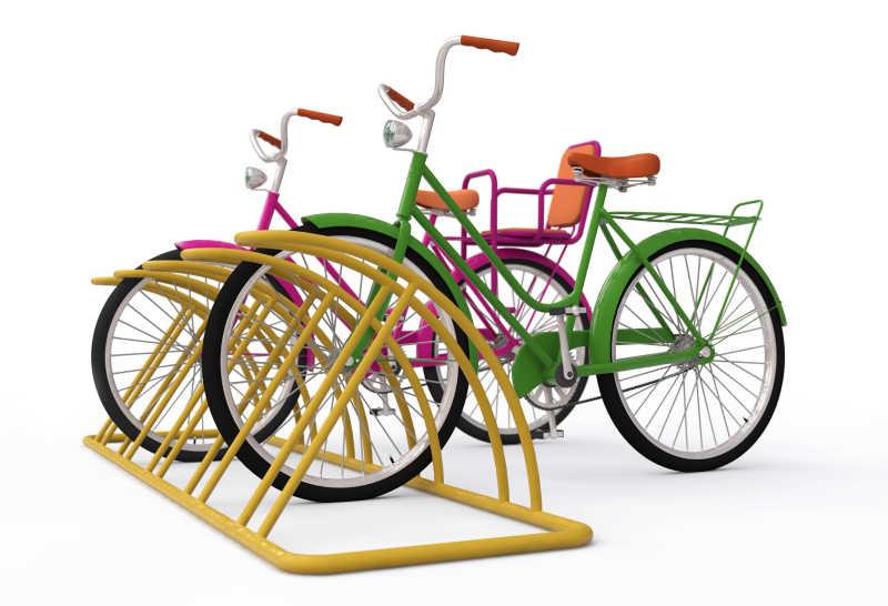 自行车整齐停放