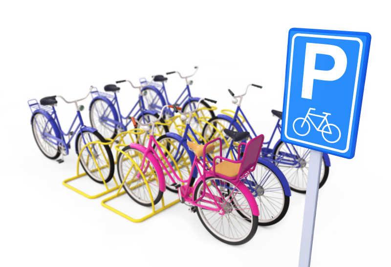 自行车泊车处