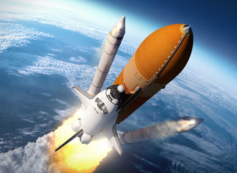 航天飞机固体助推器分离