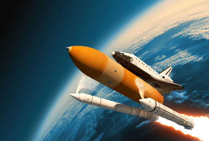 航天飞机固体火箭助推器分离