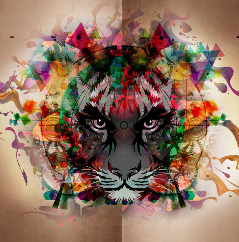 老虎水墨画