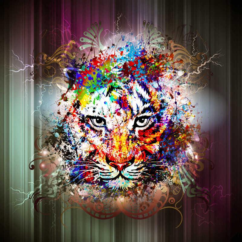 彩绘老虎头