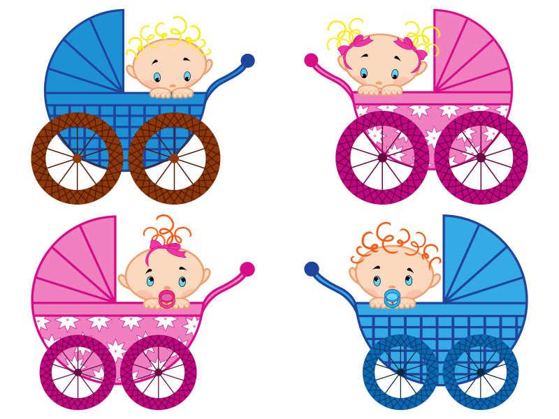 卡通婴儿车