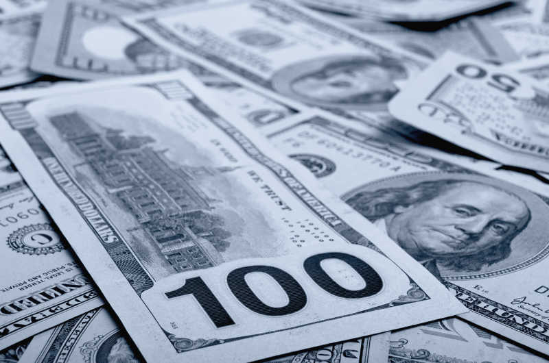 不同面值的美国现金
