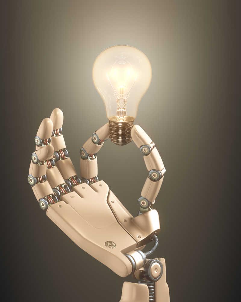机械人手持式灯泡