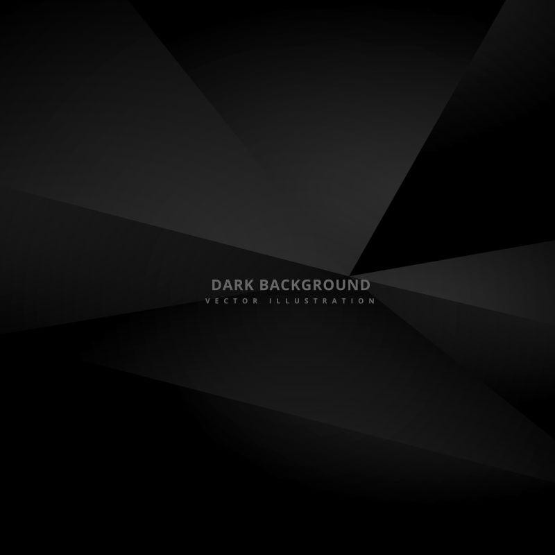 深黑色的3D矢量背景