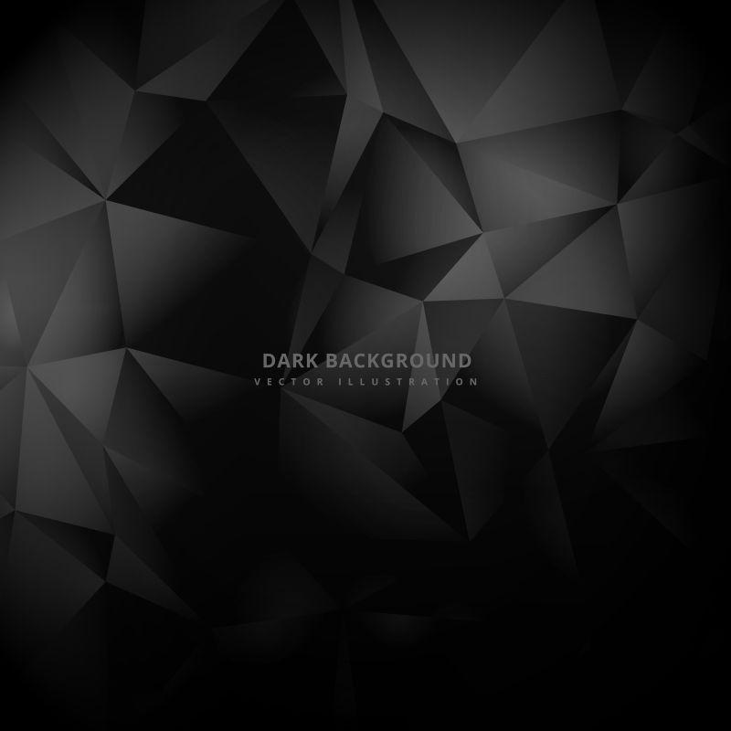 矢量的黑色三角图案背景