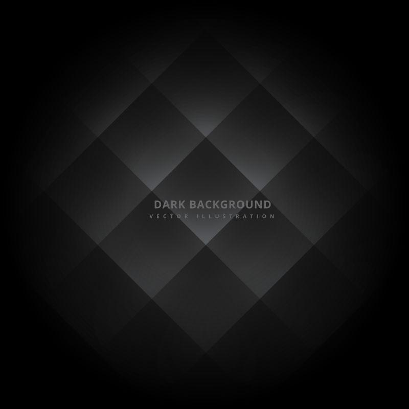 黑色方形矢量背景