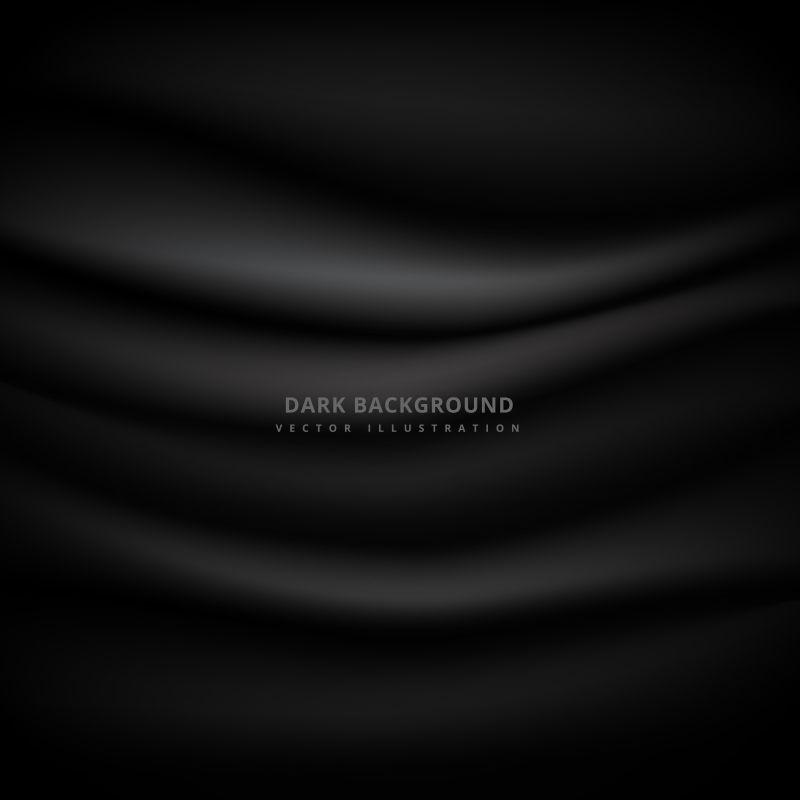 布料纹理的黑色矢量背景