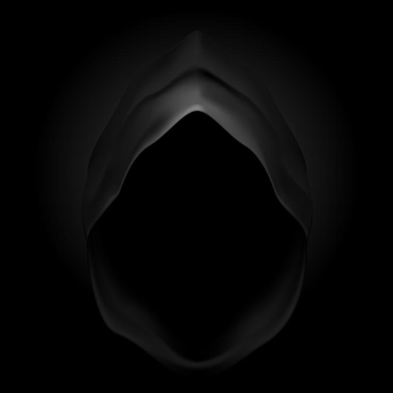 黑色的帽兜矢量插画