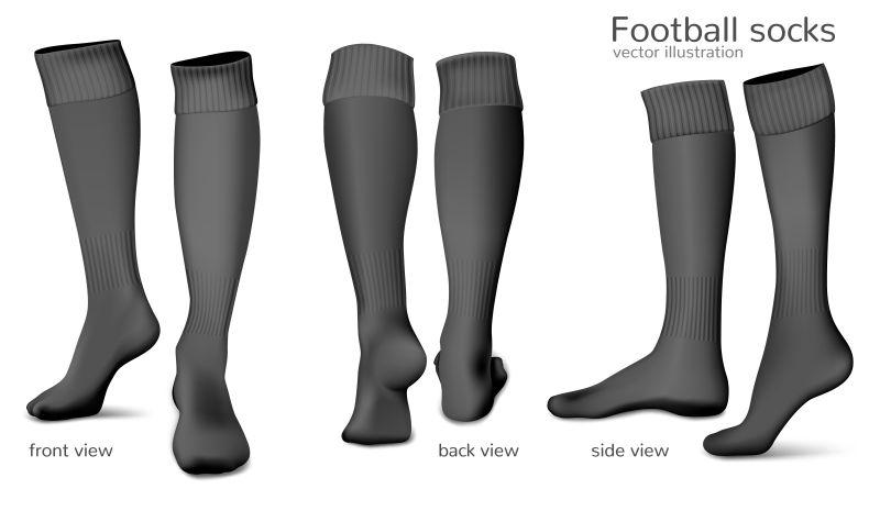 矢量足球袜的模型