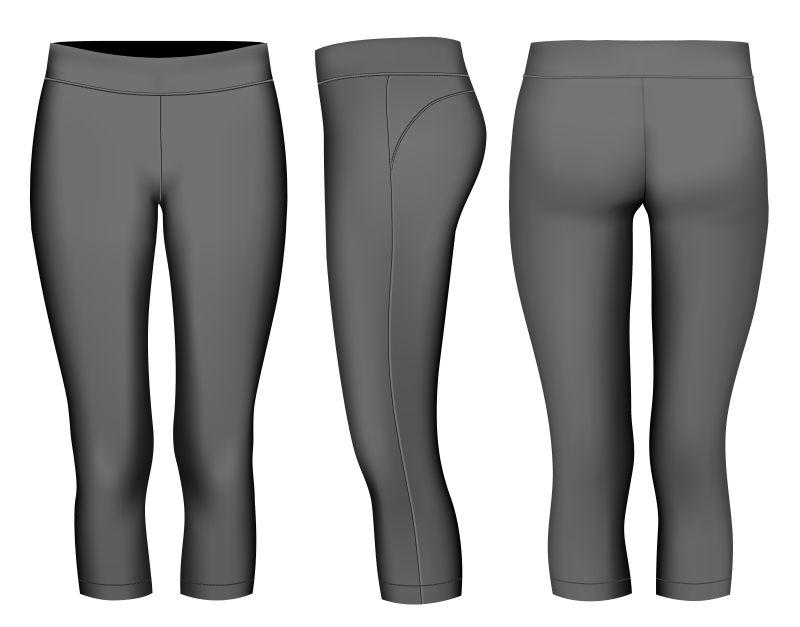 矢量紧身裤的模型