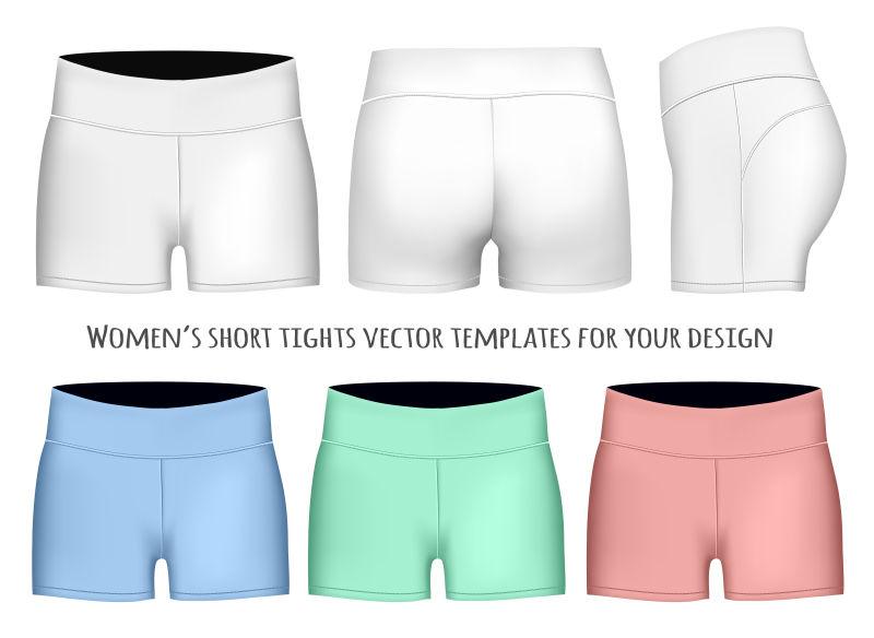 矢量女式紧身裤模型