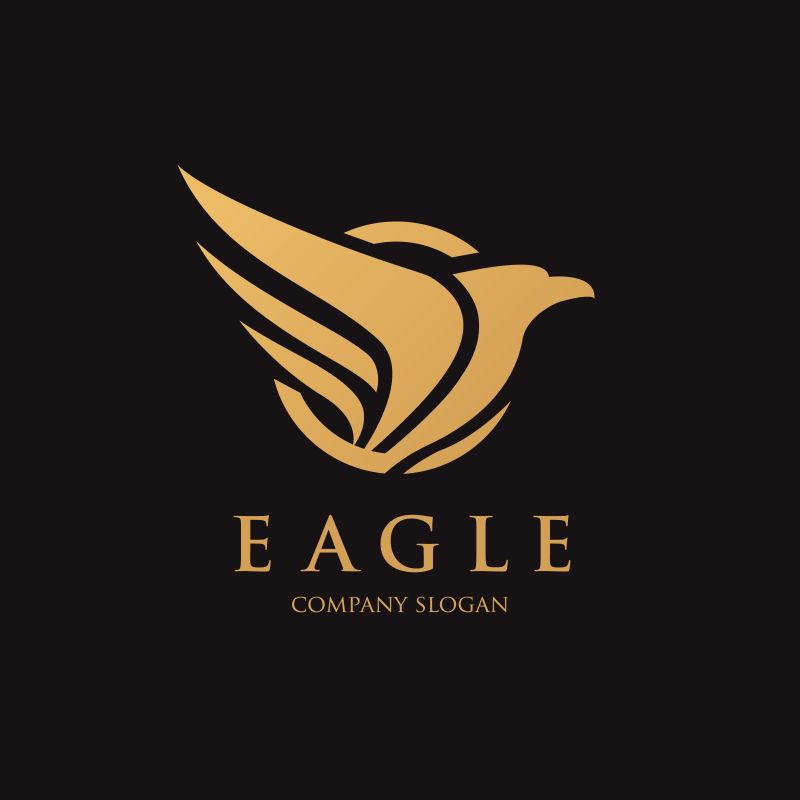 矢量老鹰创意图标设计
