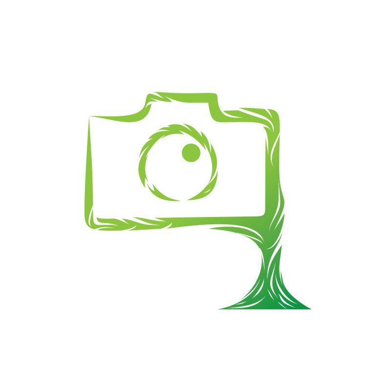 矢量环境自然环保照相机图标