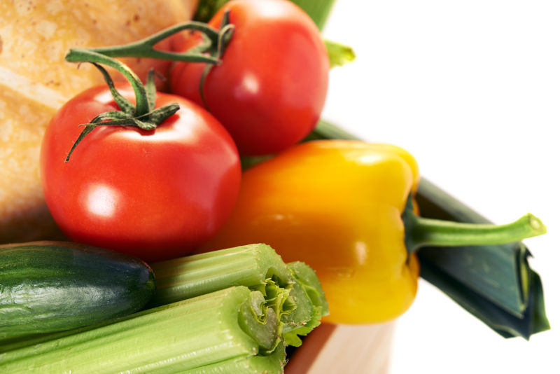 新鲜成熟的蔬菜