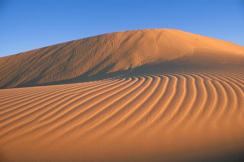 沙漠的日落