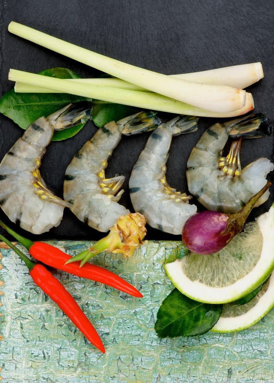 烹饪大虾的食材