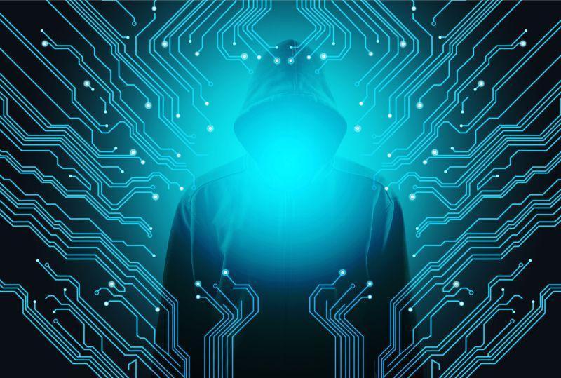 创意计算机黑客概念图
