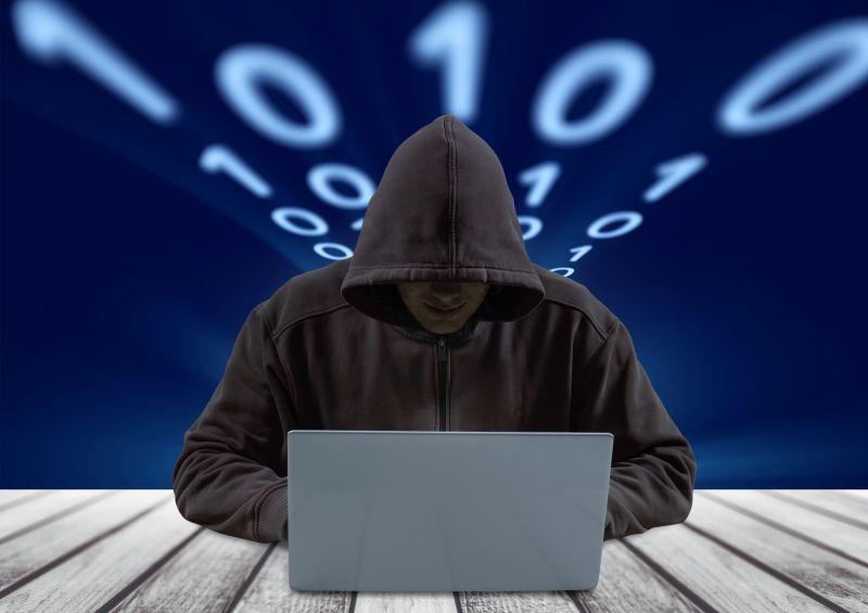 互联网黑客概念图
