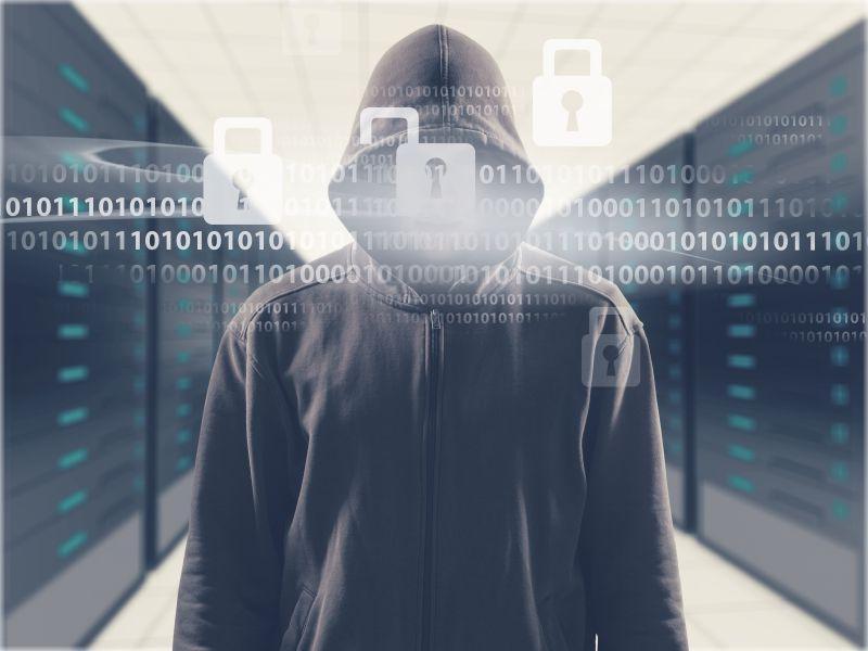 提防黑客盗窃您的信息概念图