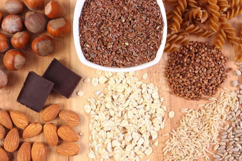 健康有营养的各种食材